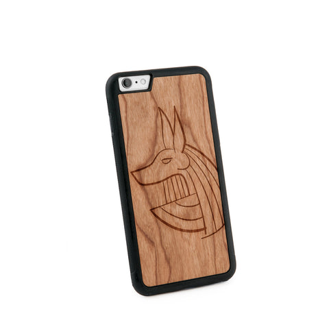 Anubis Natural Wooden Iphone 6+ Case in American Cherry Wood