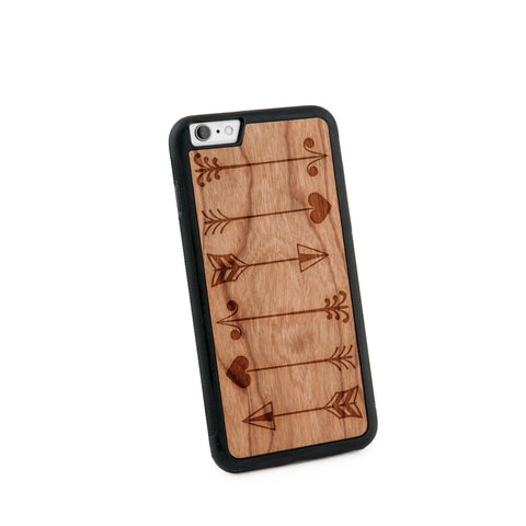 Arrows Multiple Natural Wooden Iphone 6+ Case in American Cherry Wood