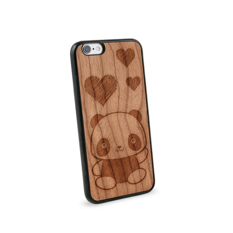 Baby Panda Natural Wooden iPhone 6 Case in American Cherry Wood