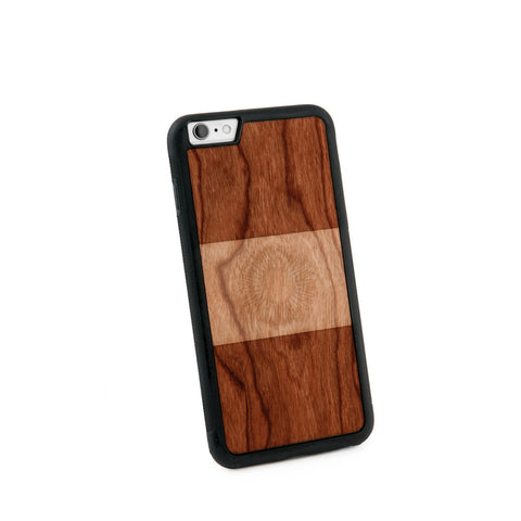 Argentina Flag Natural Wooden Iphone 6+ Case in American Cherry Wood