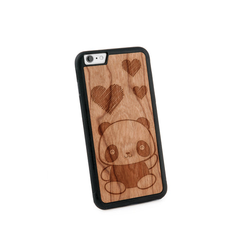 Baby Panda Natural Wooden Iphone 6+ Case in American Cherry Wood