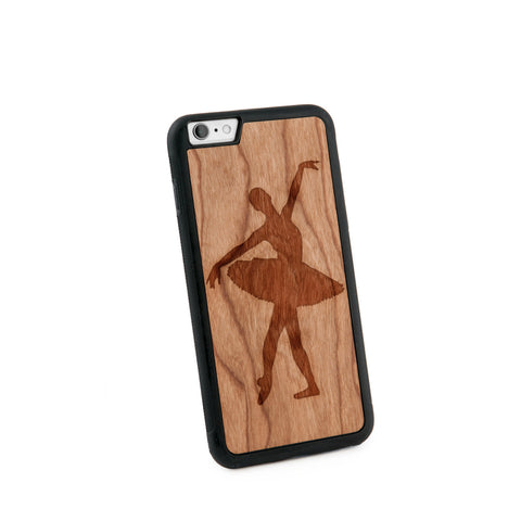 Ballerina Natural Wooden Iphone 6+ Case in American Cherry Wood