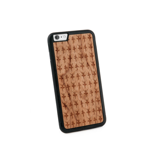 Ballerina Multiple Natural Wooden Iphone 6+ Case in American Cherry Wood