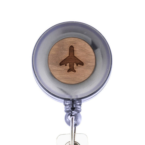 Aeroplane Badge Holder with Retractable Reel and Clip