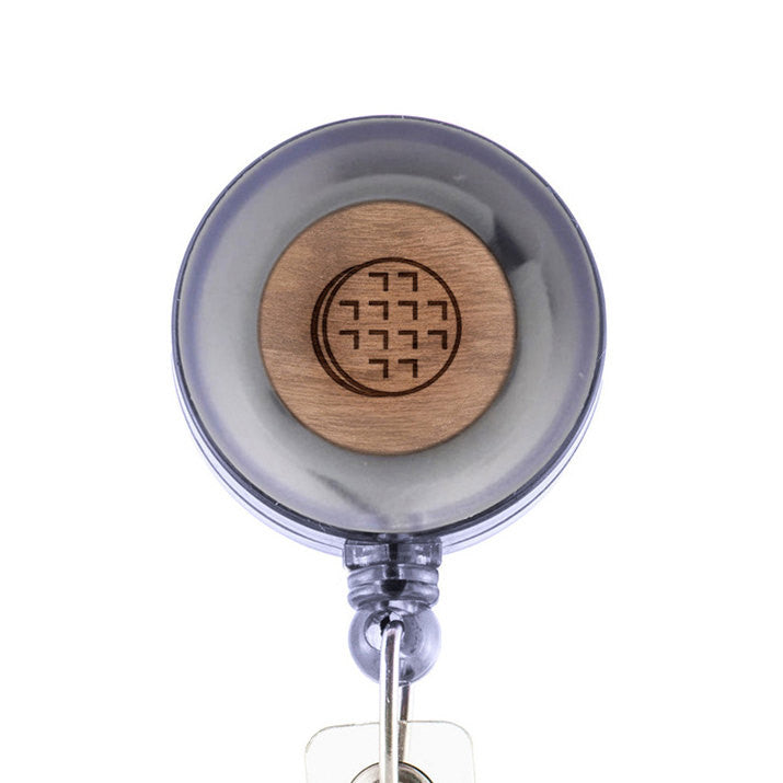 Waffle Badge Holder with Retractable Reel and Clip
