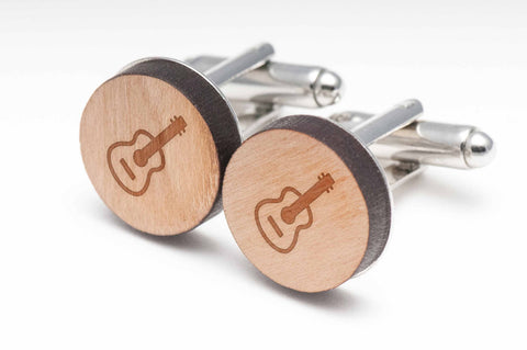 Acoustic Guitar Wood Cufflinks