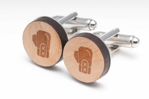 Boxing Glove Wood Cufflinks