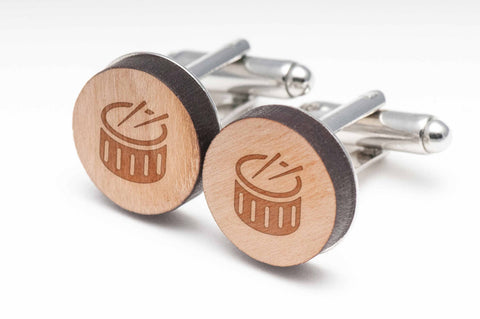 Drums Wood Cufflinks