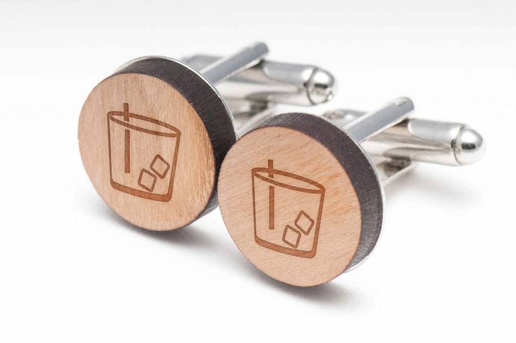 Lowball Wood Cufflinks