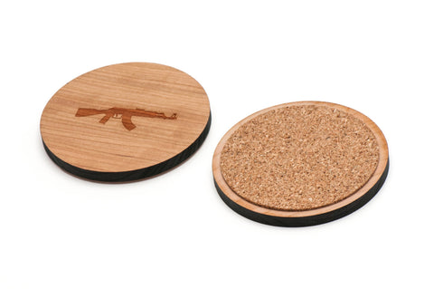 Ak47 Wooden Coasters Set of 4