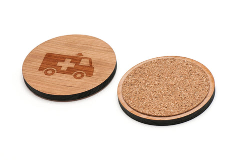 Ambulance Wooden Coasters Set of 4