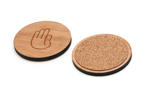 Asl D Wooden Coasters Set of 4