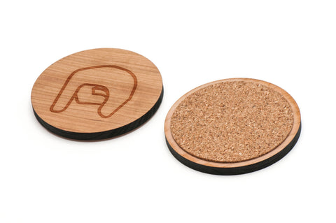 Asl Q Wooden Coasters Set of 4