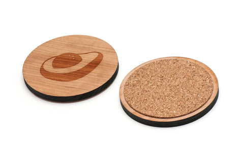 Avocado Wooden Coasters Set of 4