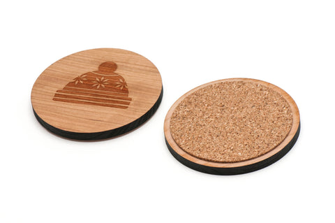 Beanie Wooden Coasters Set of 4