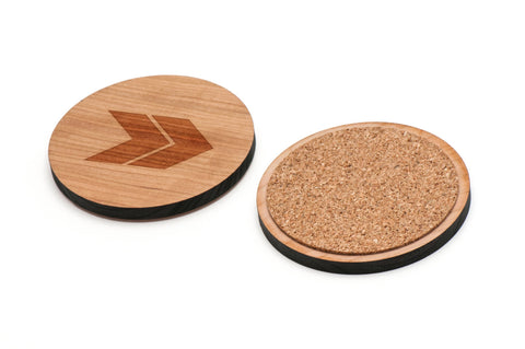 Chevron Wooden Coasters Set of 4