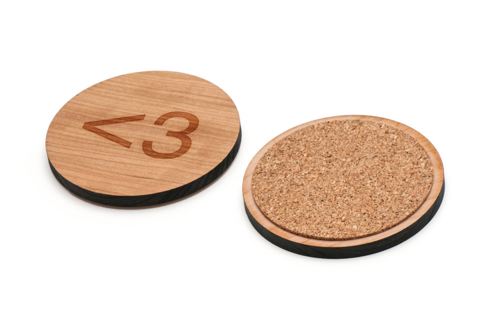 Love Wooden Coasters Set of 4