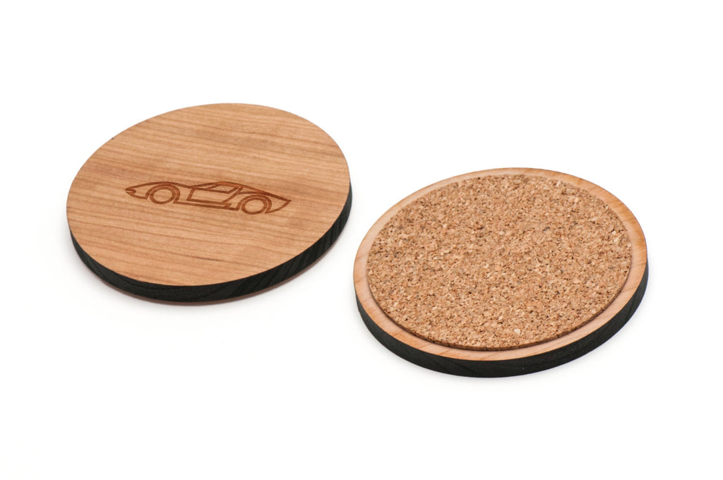 Racecar Wooden Coasters Set of 4