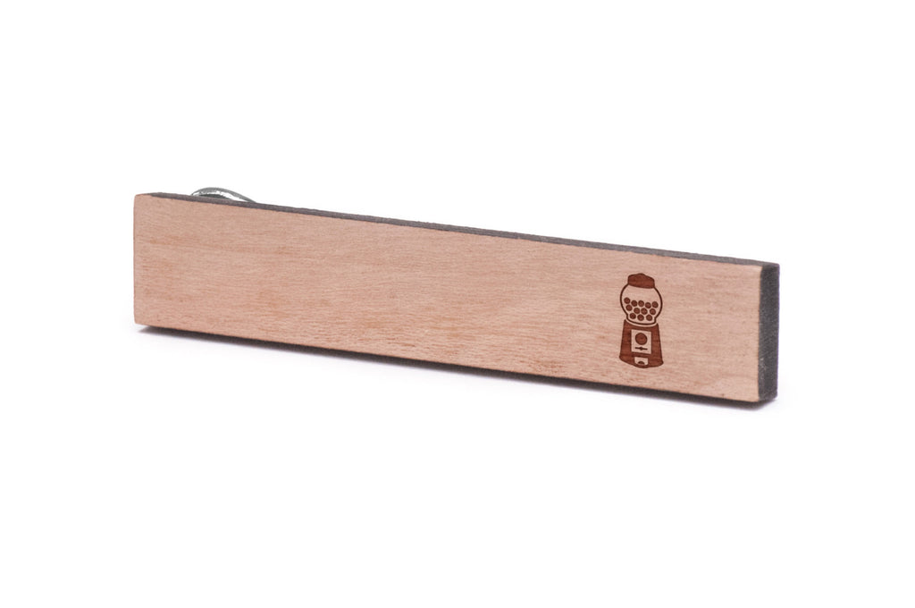 Gumball Machine Wood Tie Clip