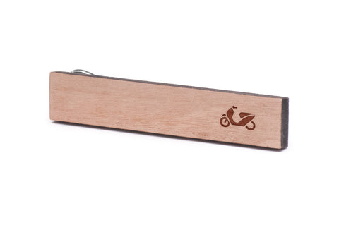 Scooter Wood Tie Clip