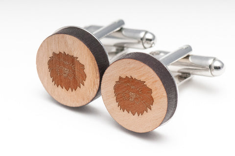 Affenpinscher Wood Cufflinks