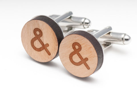 Ampersand Wood Cufflinks