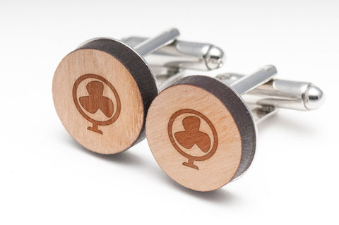 Fan Wood Cufflinks