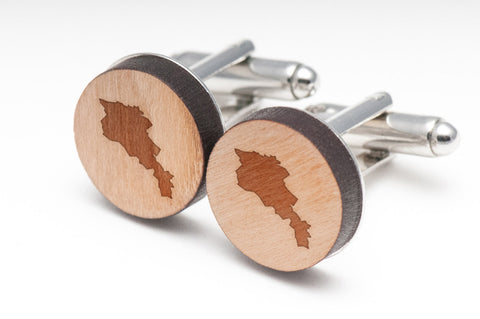 Armenia Wood Cufflinks