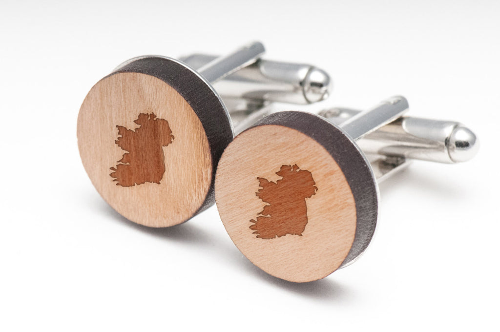 Ireland Wood Cufflinks