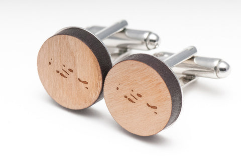 Azores Islands Wood Cufflinks