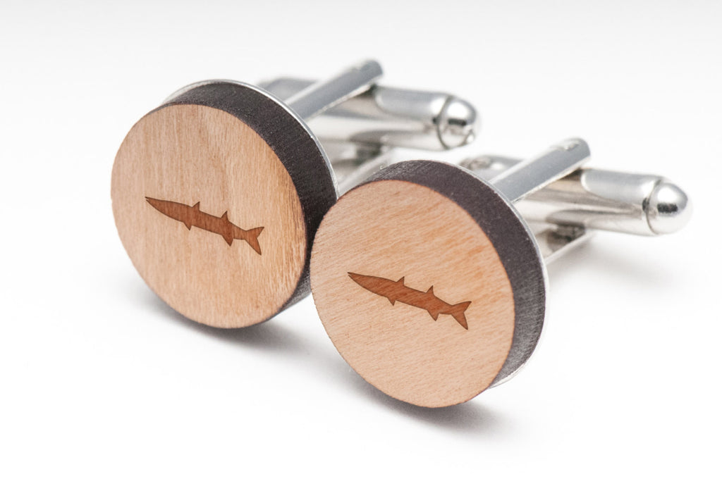 Barracuda Wood Cufflinks