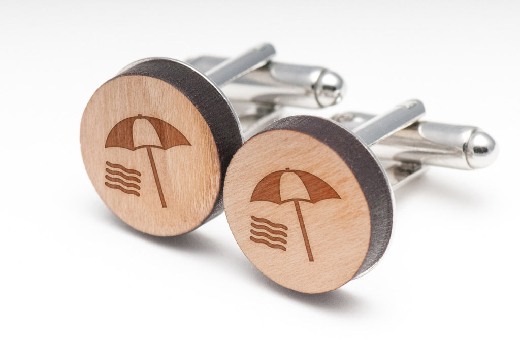 Beach Wood Cufflinks