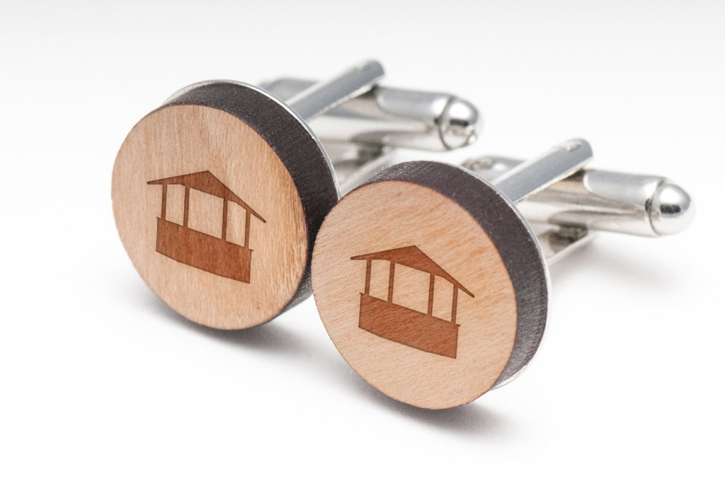 Gazebo Wood Cufflinks