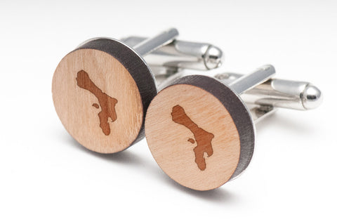Bonaire Wood Cufflinks