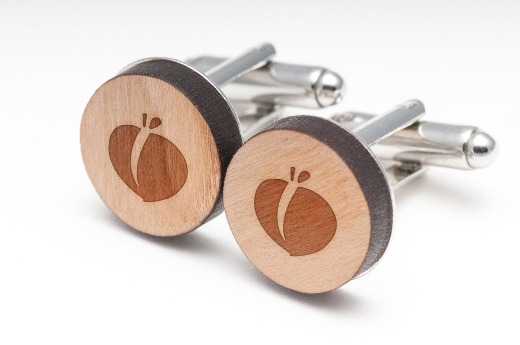 Peach Wood Cufflinks