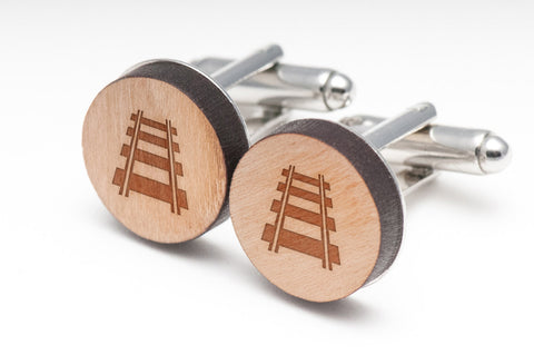 Railroad Wood Cufflinks