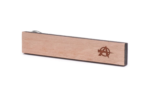 Anarchy Wood Tie Clip