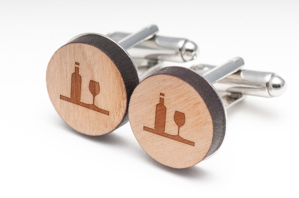 Wine Wood Cufflinks