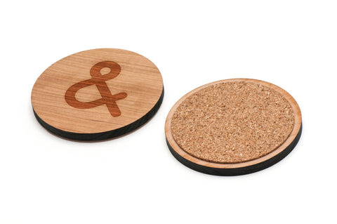 Ampersand Wooden Coasters Set of 4