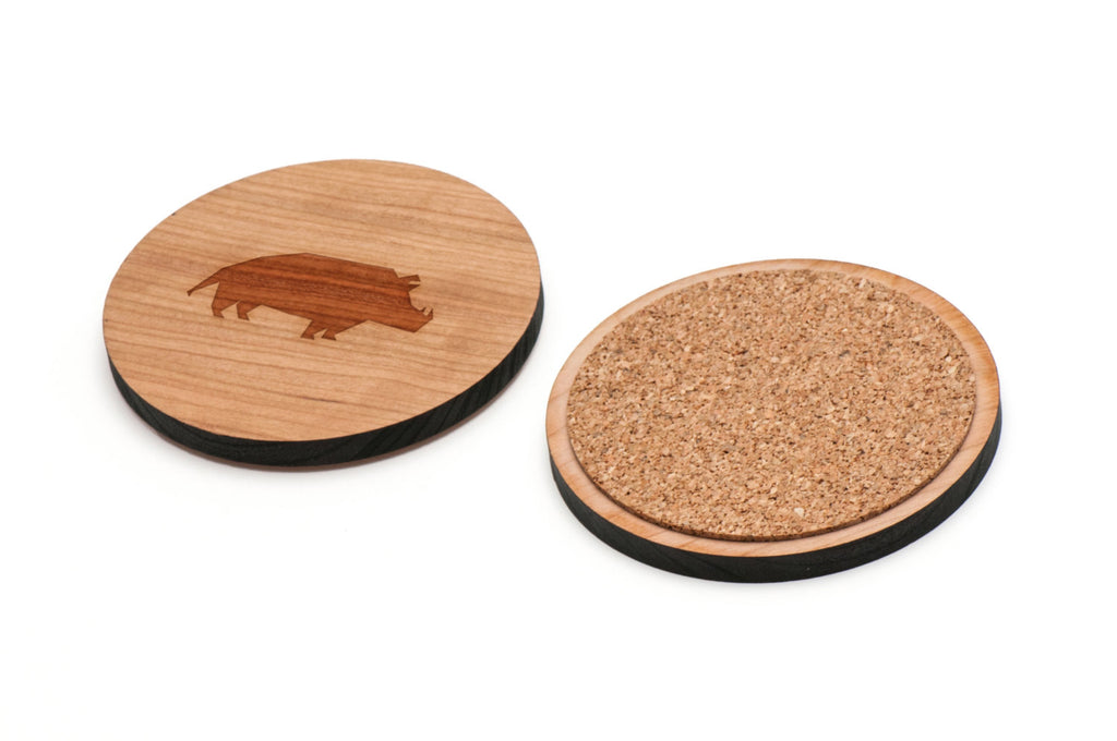 Warthog Wooden Coasters Set of 4