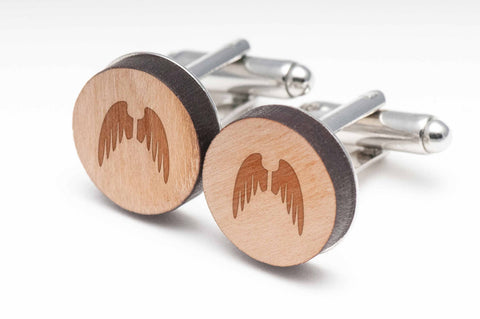 Angel Wings Wood Cufflinks