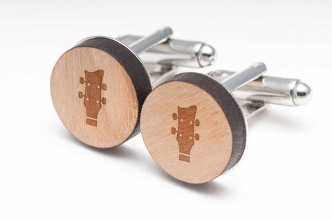 Bassclef Wood Cufflinks