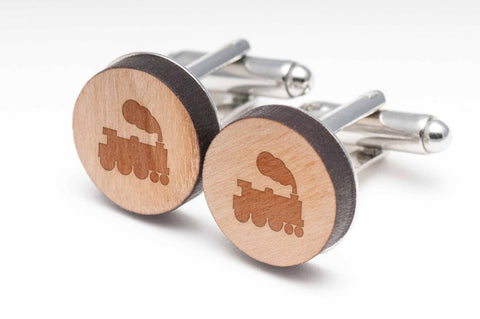 Caboose Wood Cufflinks
