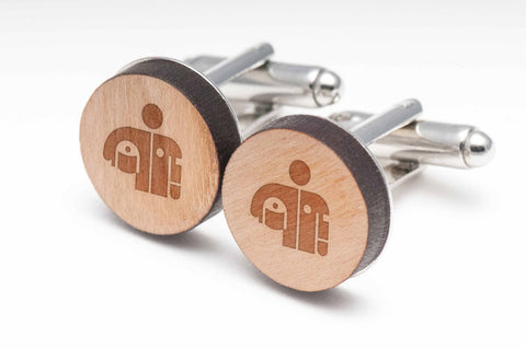 Race Driver Wood Cufflinks