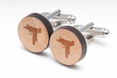 Uzi Wood Cufflinks