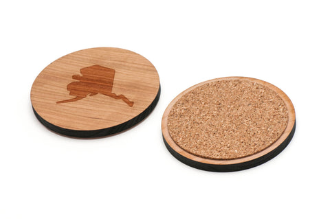 Alaska Wooden Coasters Set of 4