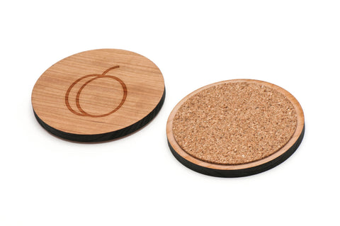 Apricot Wooden Coasters Set of 4