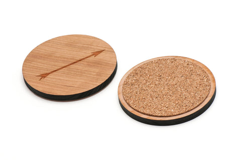 Arrow Wooden Coasters Set of 4