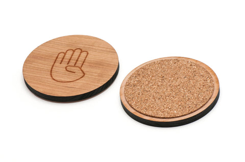 Asl B Wooden Coasters Set of 4