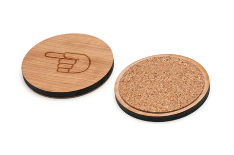 Asl G Wooden Coasters Set of 4